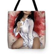 Monday Morning Tote Bag by Pete Tapang