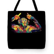 Monkey Drummer Gift For Musicians Color Design Tote Bag