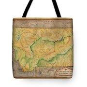 Montana Custom Map Art Rivers Map Hand Painted Tote Bag