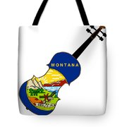 Montana State Fiddle Tote Bag