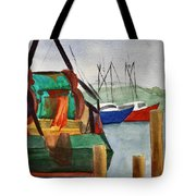 Montauk Dock W Tote Bag