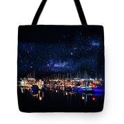 Monterey Bay At Night Tote Bag