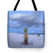 Moon And Soaptree Yucca, White Sands Tote Bag