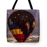 Moon And Stars Hot Air Balloon Tote Bag by Keith Smith