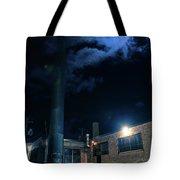 Moon Over Industrial Chicago Alley Tote Bag