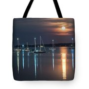Moon Over Rockland Tote Bag