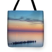 Moonset On Lake Superior Tote Bag