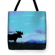 Moose - At - Sunset Tote Bag