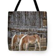 Horses By The Barn Sugarbush Farm Tote Bag