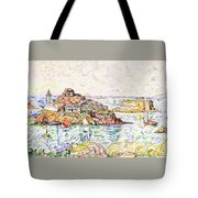 Morlaix, Entrance Of The River - Digital Remastered Edition Tote Bag