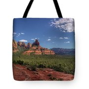 Mormon Canyon Panorama Tote Bag by Andy Konieczny