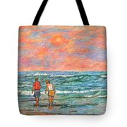 Morning Stroll At Isle Of Palms Tote Bag
