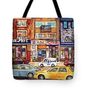 Morrie Heft Elizabeth Hager Le Chef Jj Joubert On Queen Mary Rd Stores C Spandau Montreal Tote Bag