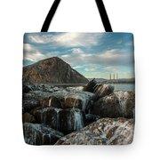 Morro Rock Breakwater Tote Bag by Mike Long
