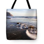 Morro Rock Ebb Tide Tote Bag by Mike Long