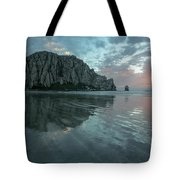 Morro Rock Sunset Tote Bag by Mike Long