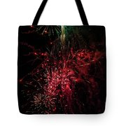 Mostly Red And White Fireworks Tote Bag