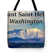 Mount Saint Helens Washington Tote Bag