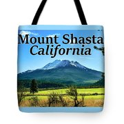 Mount Shasta California Tote Bag