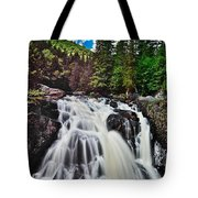 Mount Tremblant Waterfall Tote Bag