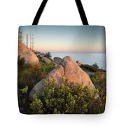 Mount Woodson Rock An Clouds Tote Bag