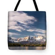 Mountain Range At Sunset Seen From Rio Tote Bag