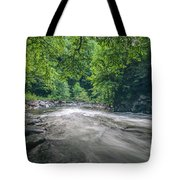 Mountain Stream In Summer #1 Tote Bag by Tom Claud
