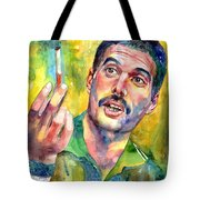 Mr Bad Guy - Freddie Mercury Portrait Tote Bag