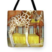 Ms Kitty And Her Giraffe  Tote Bag