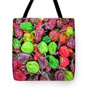 Multi Mini Hot Pepper Variety Tote Bag