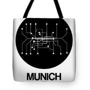Munich Black Subway Map Tote Bag