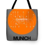Munich Orange Subway Map Tote Bag