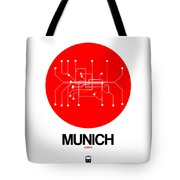 Munich Red Subway Map Tote Bag