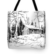 My Cabin In The Woods Tote Bag