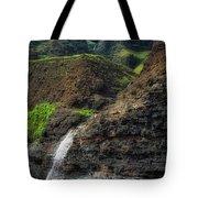 Na Pali Coast Waterfall Tote Bag by Andy Konieczny