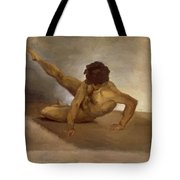 Naked Man Reversed On The Ground Tote Bag