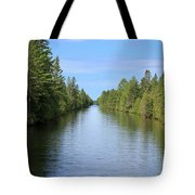Narrow Cut On The Trent Severn Waterway Tote Bag