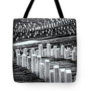 National Cemetery Tote Bag by Tom Singleton
