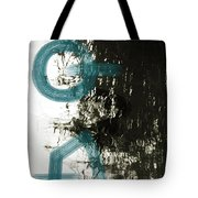 Natural Reflections With Blue Shapes Tote Bag