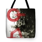 Natural Reflections With Red Shapes Tote Bag