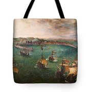 Naval Battle In The Gulf Of Naples Tote Bag