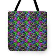 Neon Diamond Pattern Tote Bag