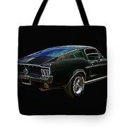 Neon Mustang Fastback 1967 Tote Bag
