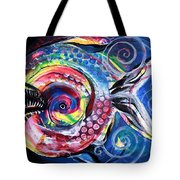 Neon Piranha Tote Bag