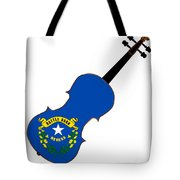 Nevada State Fiddle Tote Bag