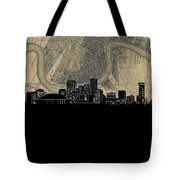 New Orleans Skyline Map Tote Bag