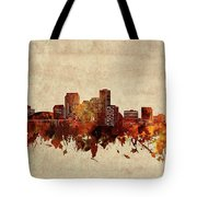 New Orleans Skyline Sepia Tote Bag