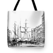 New York Docks, 1856 Tote Bag