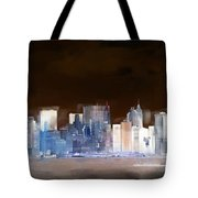 New York Skyline Illustration 1 Tote Bag