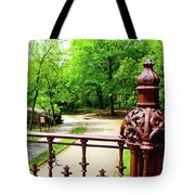 New York's Central Park Winterdale Arch Railing Cast Iron Art Tote Bag